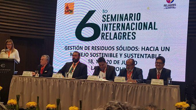 Ciudad de La Paz organiza exitoso Seminario Internacional de Gestión de Residuos RELEGARES 2018