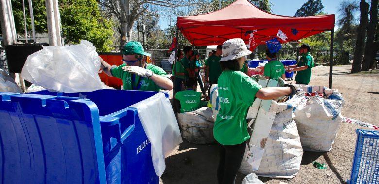 Msur participa con éxito en la gestión de Reciclaje en Fondas del Parque O'Higgins